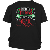 Merry Fitmas and Happy New Rear Fitness Funny T-Shirt