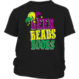 Beer Beads Boobs Mardi Gras Party T-Shirt