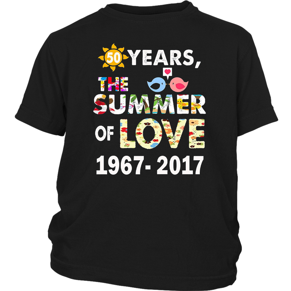 1967 Summer of Love Hippie Peace Camper Van T-Shirt