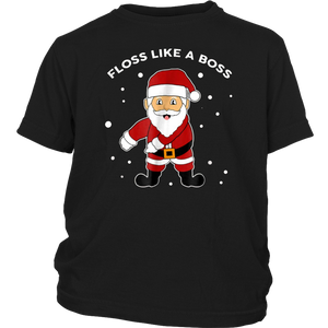 Floss Like A Boss TShirt Flossing Santa Christmas T-Shirt