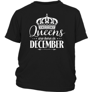 Queens Are Born In December Shirt