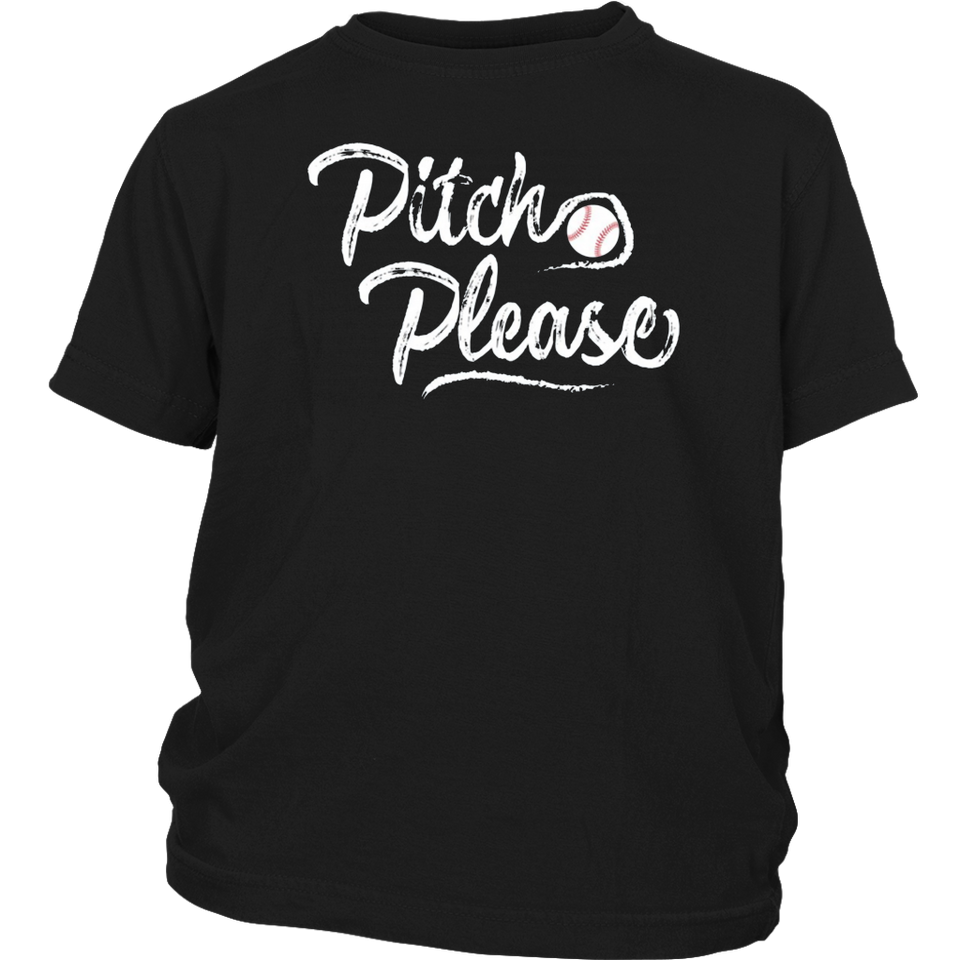 Pitch Please Softball Baseball School Sports Funny Tshirt