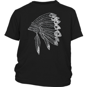 USA Native American Feather Headdress Native Indian T Shirt