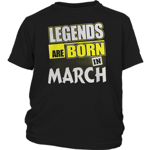 Great Legends Are Born in March Shirt