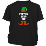 I'm The Beer Elf Funny Family Christmas Gift Drinking T-Shirt