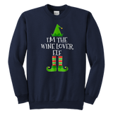 I'm The Wine Lover Elf Crewneck Sweatshirt