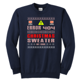 Error 404 Sweater Not Found Computer Christmas Sweatshirt