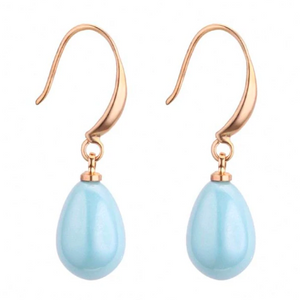 Neeve | Sea Blue and Gold Drop Earrings-Glitzy n Glamorous