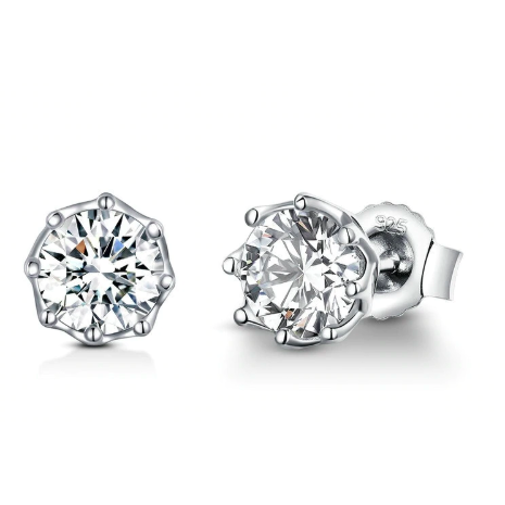 Mila | Sterling Silver Crystal Stud Earrings-Glitzy n Glamorous