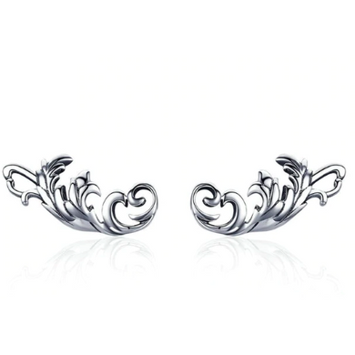 Alexa | Sterling Silver Crystal Filigree Stud Earrings-Glitzy n Glamorous
