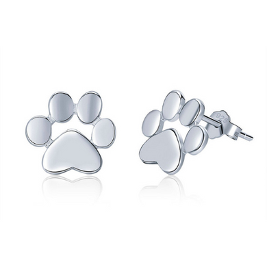 Roxie | Sterling Silver Paw Stud Earrings-Glitzy n Glamorous