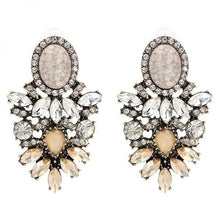 "Load image into Gallery viewer, Earrings - ""ARIA"" GOLD CRYSTAL DIAMANTE STATEMENT EARRINGS"
