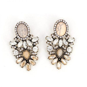"Earrings - ""ARIA"" GOLD CRYSTAL DIAMANTE STATEMENT EARRINGS"
