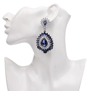 "Earrings - ""BELLA"" SAPPHIRE BLUE CRYSTAL EARRINGS"