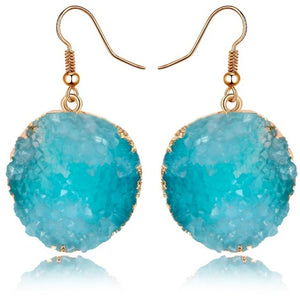 "Earrings - ""DESI"" BABY BLUE TURQUOISE SPARKLY EARRINGS"