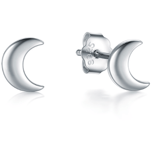 "Earrings - ""FREYA"" STERLING SILVER MOON STUD EARRINGS"