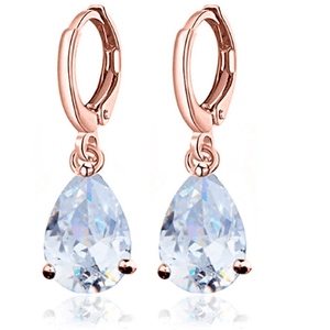 Earrings - Kathryn | CZ Crystal Diamante Rose Gold Wedding Bridal Earrings