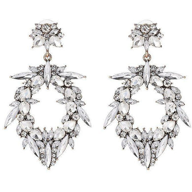 Earrings - Romy | Crystal Diamante Boho Wedding Bridal Statement Earrings