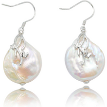 Load image into Gallery viewer, Pearl Drop Sterling Silver Bridal Earrings-Glitzy n Glamorous