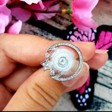 Load image into Gallery viewer, Rings - Luna | Silver Crystal Star And Moon Spinning Ring