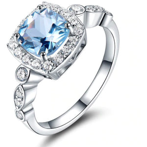 Rings - Remi | Nano Blue Topaz Sterling Silver Ring