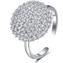 Load image into Gallery viewer, Rings - Selene | Silver Crystal Spinning Ring
