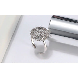 Rings - Selene | Silver Crystal Spinning Ring