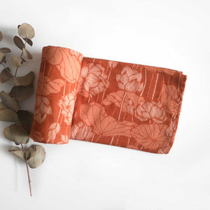 Desert Lotus Cotton Muslin Wrap