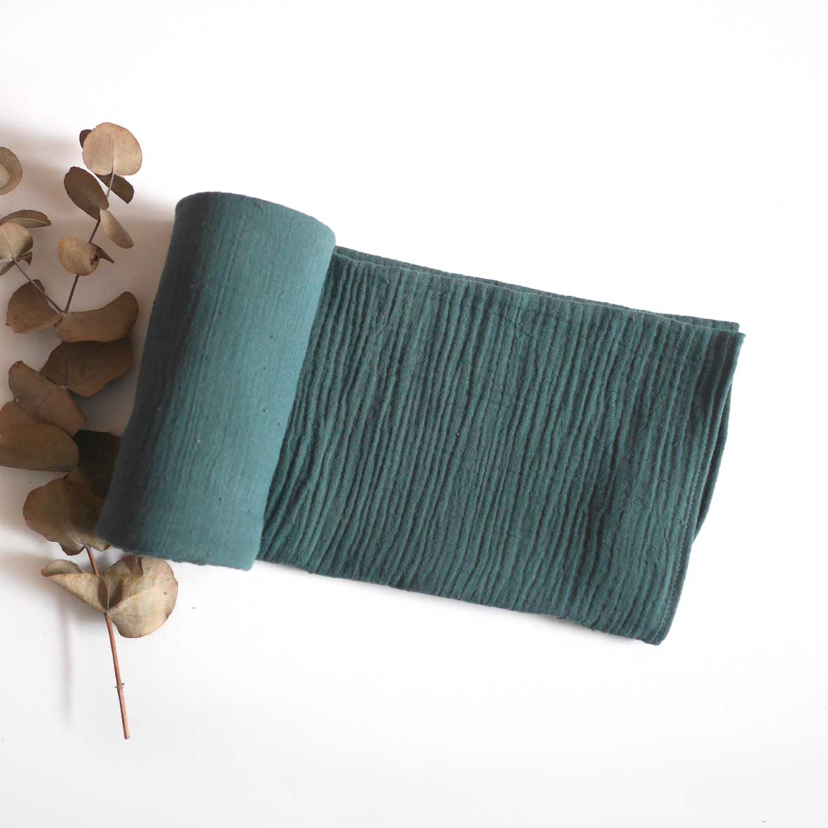 Lush Pine Cotton Muslin Wrap