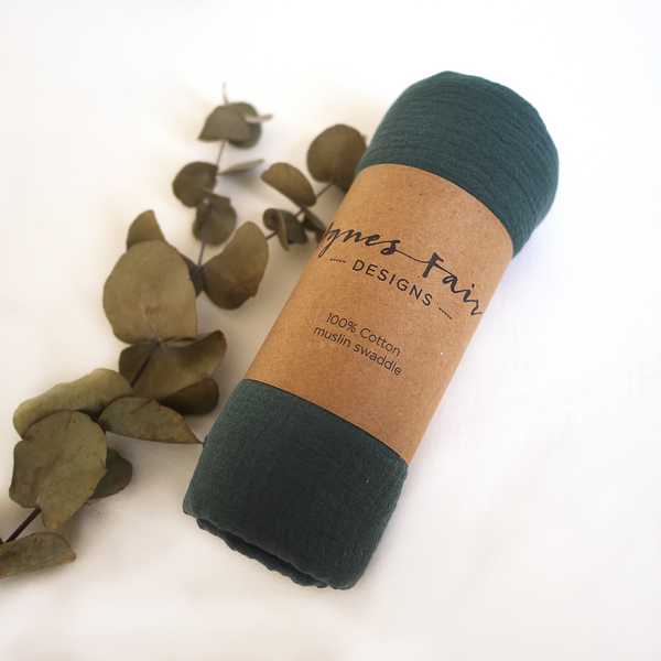 Lush pine muslin wrap packaged