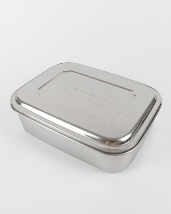 bento stainless steel 3-compartment snack box - The Kind Society