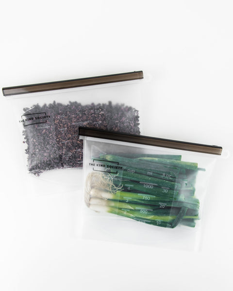 Small Reusable Ziplock Bag (2 pack)