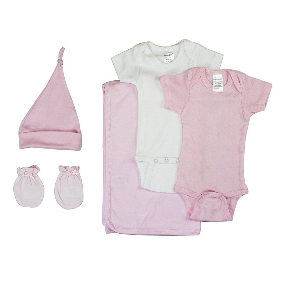 Newborn Baby Girl 5 Pc Layette Baby Shower Gift Set
