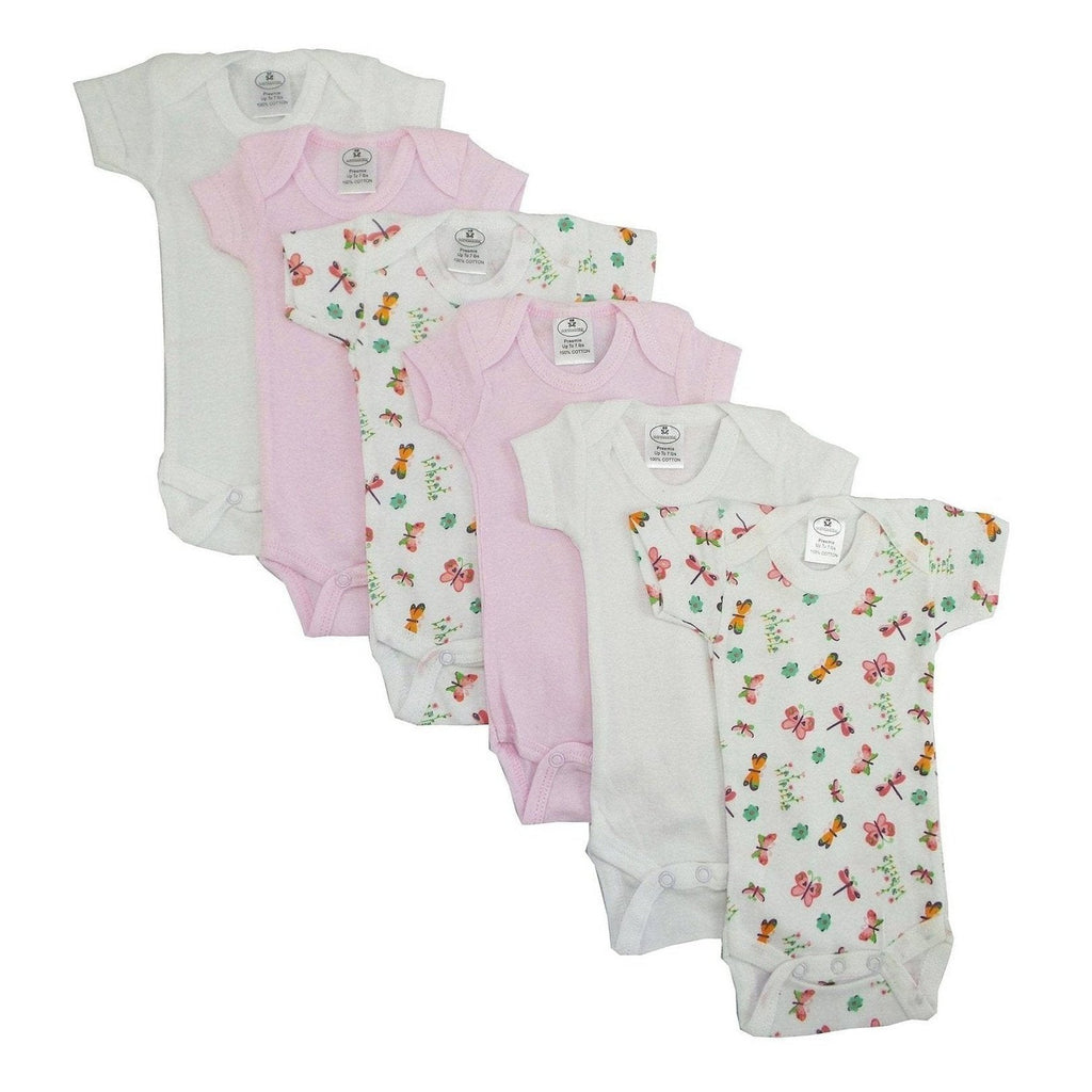 Girls' Printed Short Sleeve Onzie - 6 Pack