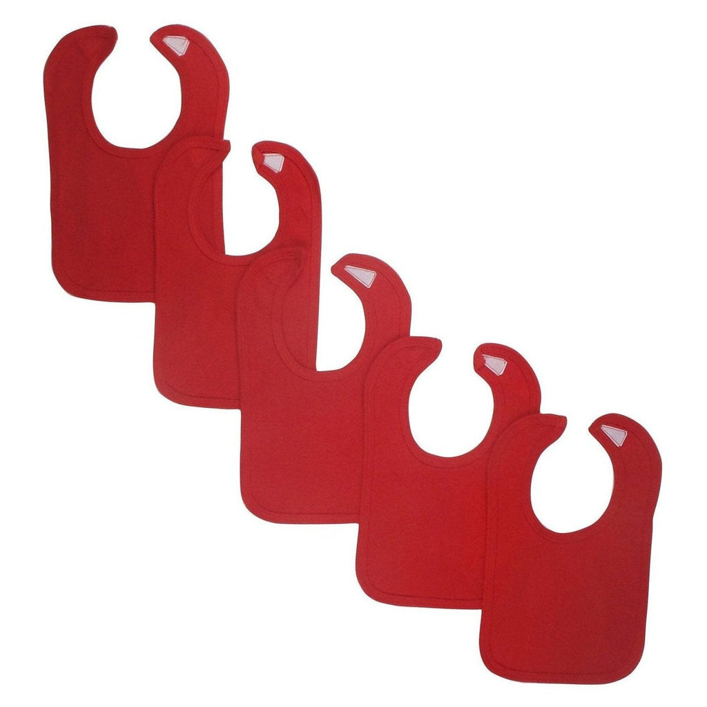 Red Bibs (Pack of 5)