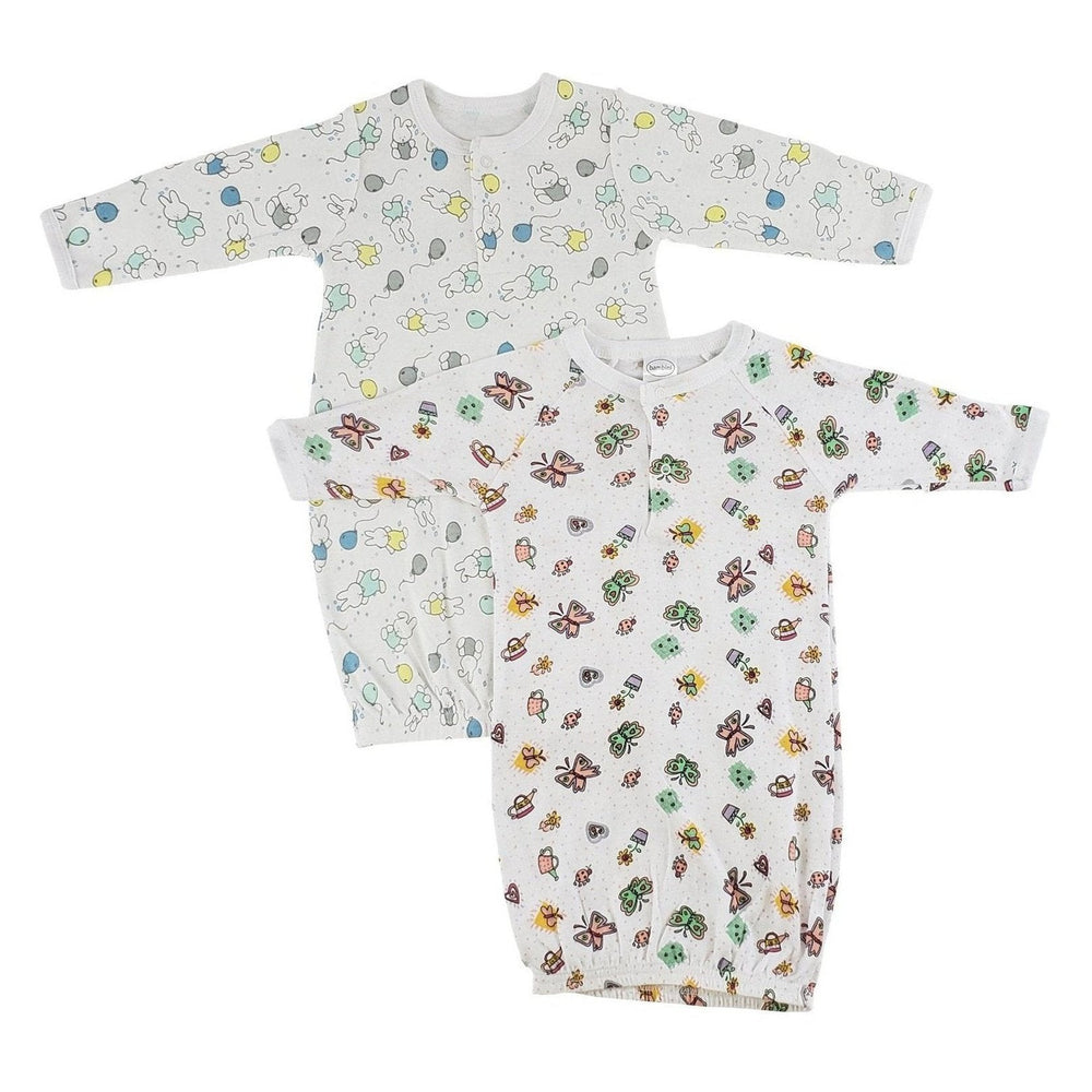 Girls Infant Gowns - 2 Pack
