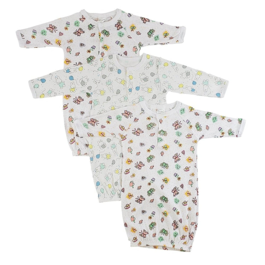 Girls Print Infant Gowns - 3 Pack