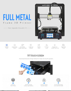 Anycubic I3 MEGA Full Metal Frame FDM 3D Printer TFT Touch Screen - amtech system