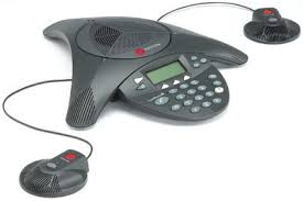 Polycom SoundStation2 Expandable Conference Phone with Microphone Pair - amtech system