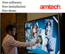 "Load image into Gallery viewer, Interactive Touch LED 65"" - amtech system"