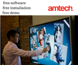 "Interactive Touch LED 65"" - amtech system"