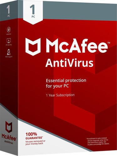 McAfee 2018 AntiVirus / 1 Device/ 1Year licence - amtech system