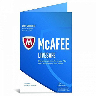 McAfee LiveSafe 2018 - Unlimited Devices - 12 Month Subscription Retail FFP - amtech system