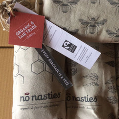 No Nasties Organic Bag - Fairtrade Organic Vegan Cotton Clothing