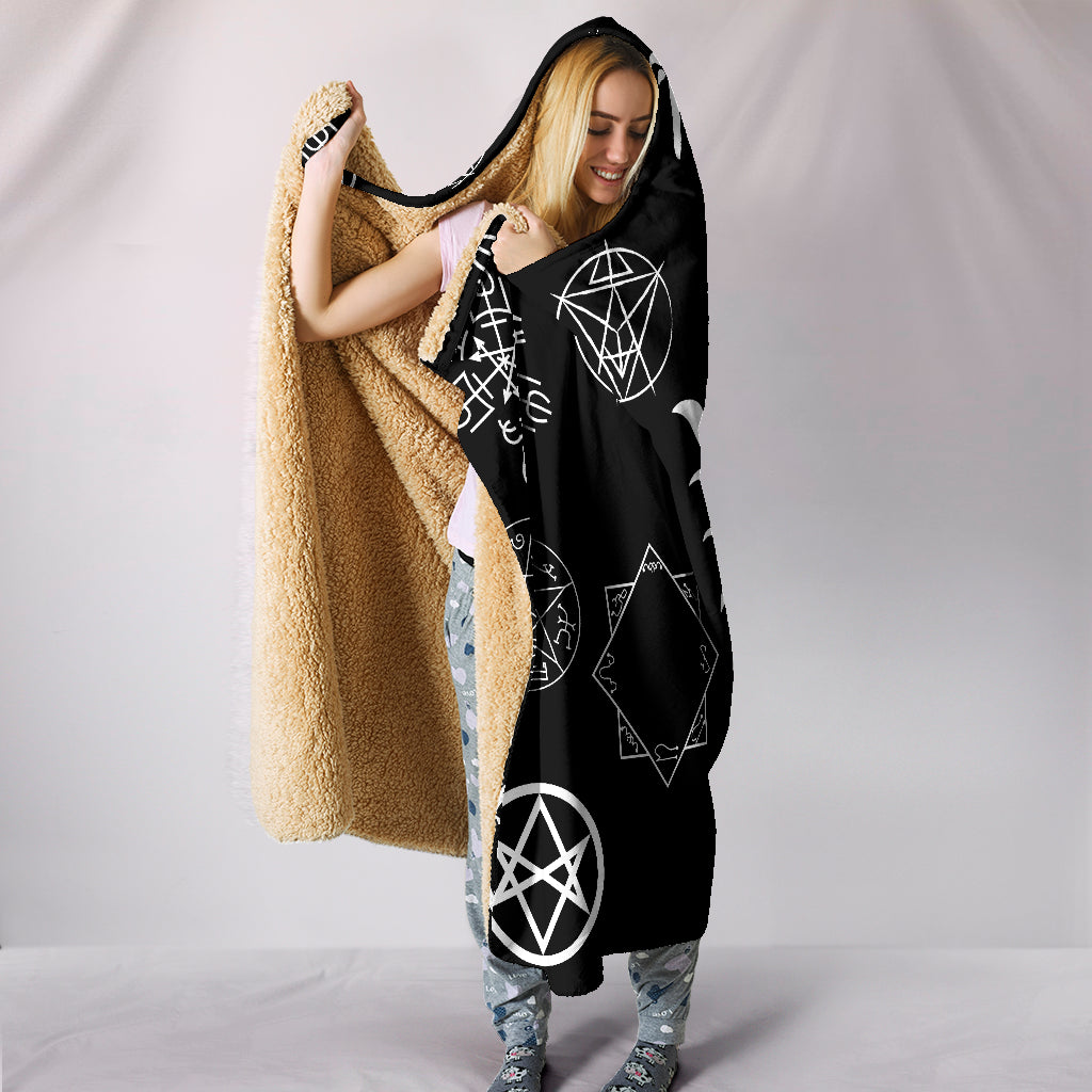 Supernatural Sigils Hooded Blanket