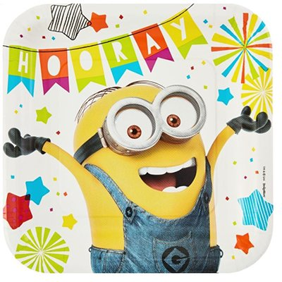 Hooray Minion Party Plates