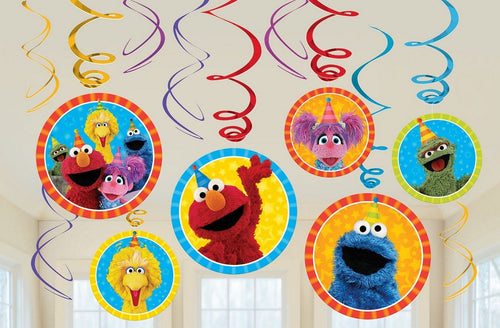 Sesame Street Swirl decorations
