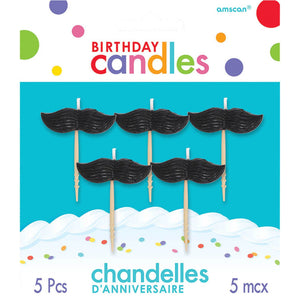 Moustache Birthday Candles
