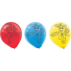 Paw Patrol Latex Balloon- Pack of 6