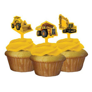 Big Dig Construction Party Cupcake Toppers